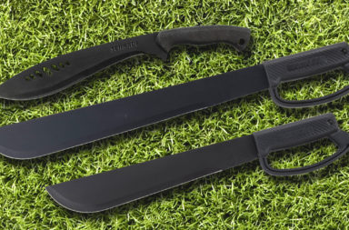 Schrade Machete and Kukri