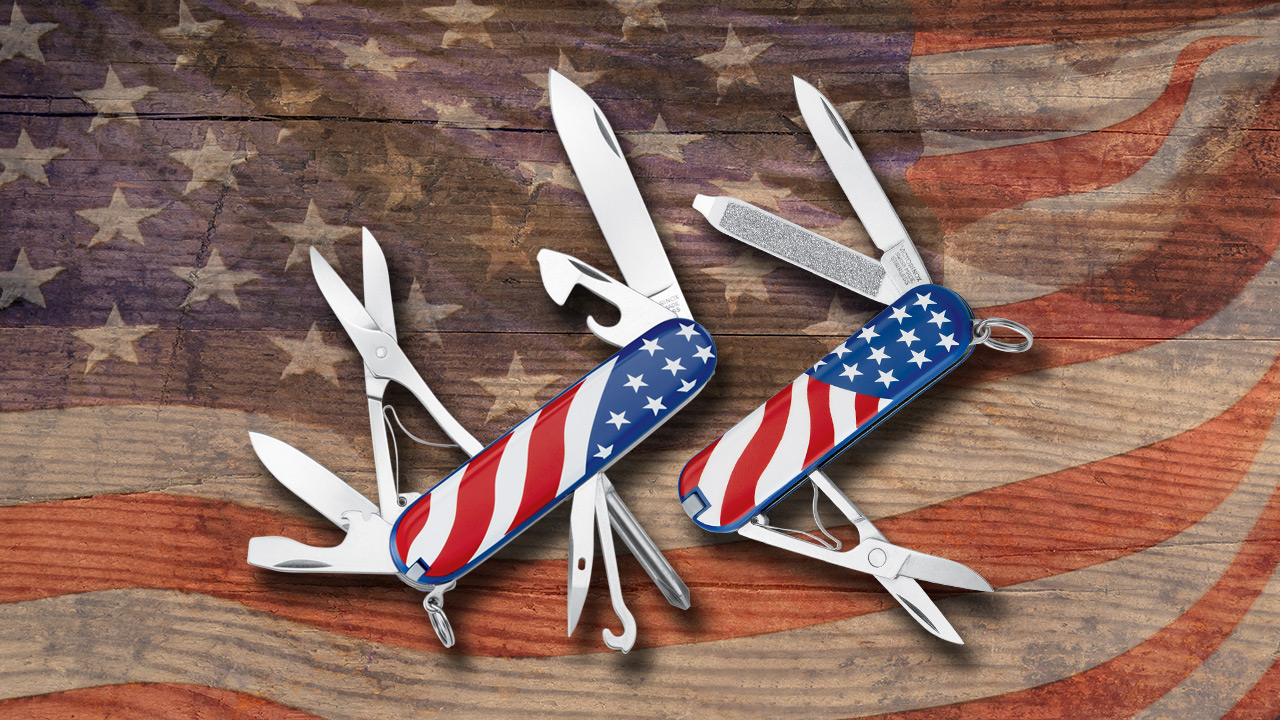 Quick Find Victorinox American Flag Pocket Tools Knife