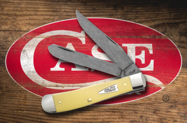 Case Yellow Synthetic Handle Stonewash Chrome Vanadium